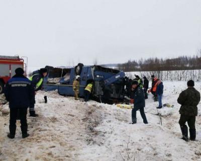 В Калужской области перевернулся автобус с детьми. Есть погибшие