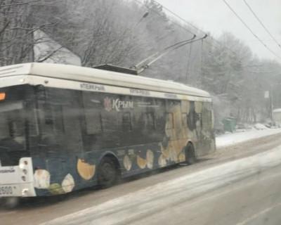 Ялтинскую трассу замело снегом (ФОТО)