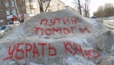 «Путин, помоги убрать кучу»