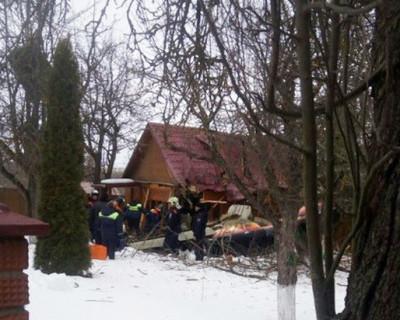 Кадры с места падения самолета  в Подмосковье (ВИДЕО)