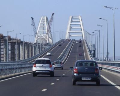 Более 500 тысяч машин проехали по Крымскому мосту за зиму