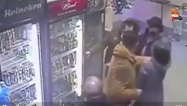 Продавщица «успокоила» пьяного мужчину кулаками (ВИДЕО)