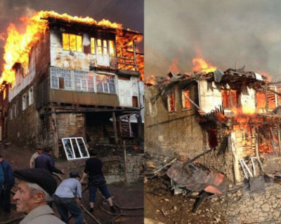 Пожар в дагестанском селе уничтожил 30 домов