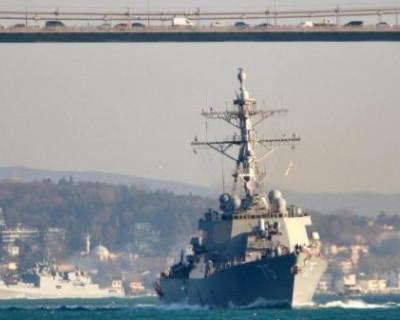 Видео  встречи американского эсминца с российским судном в Черном море (ВИДЕО)