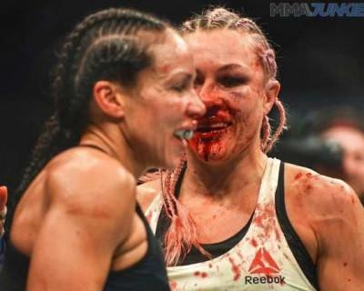Россиянка со сломанным носом в жестокой схватке победила американскую спортсменку (ФОТО, ВИДЕО)