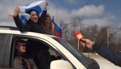 Участники автомотопробега поздравили читателей «ИНФОРМЕРа» и севастопольцев с «Русской весной» (ВИДЕО)