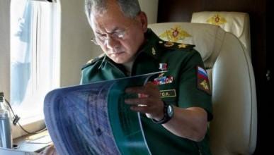 Как Сергей Шойгу пролетал над Сирией (ВИДЕО)