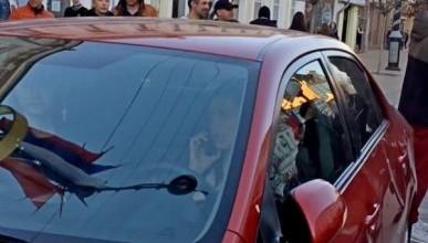 Видео задержания автоледи, насмерть сбившую кота уличного музыканта в Крыму