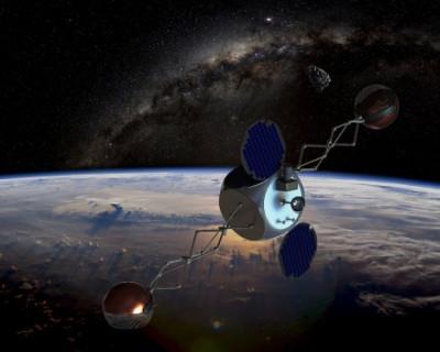 Российские ученые спроектировали спутник для уборки космического мусора