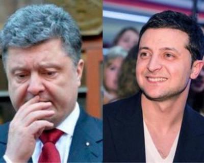 Владимир Зеленский опередил Порошенко почти на 15%