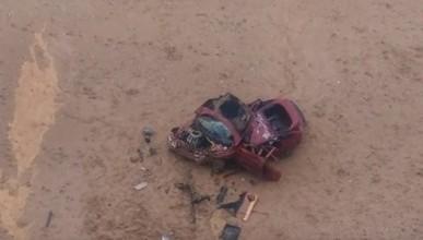 Под Севастополем автомобиль слетел с обрыва