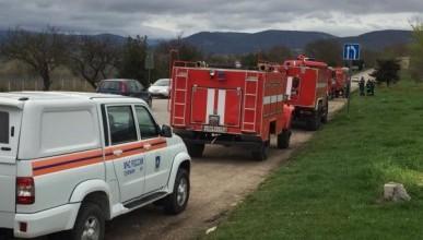 Спасатели Севастополя тушат крупный лесной пожар