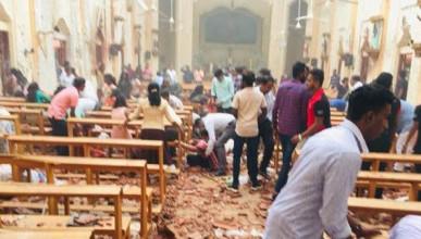 Жуткие кадры последствий взрывов на Шри-Ланке (ВИДЕО)