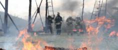 Севастопольские газодымозащитники прошли через огонь (ФОТО)