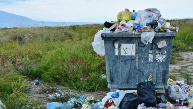 В Севастополе неизвестные уродуют контейнеры для сбора мусора