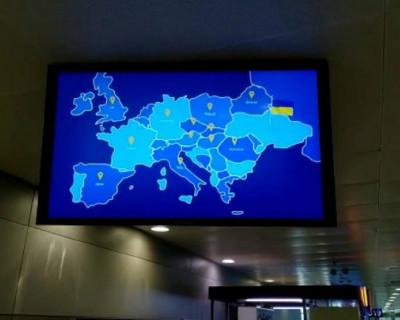 Скандал из-за трансляции в аэропорту Киева карты Украины без Крыма