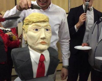 В Симферополе съели Дональда Трампа (ВИДЕО)