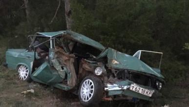Смертельное ДТП в Крыму: автомобиль на большой скорости влетел в дерево