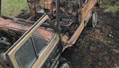 В крымском селе сгорел автомобиль
