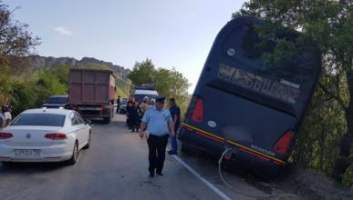 В Крыму пассажирский автобус попал в ДТП