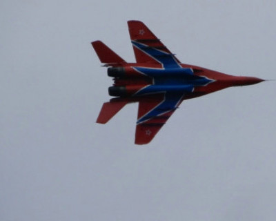 Во время пилотажа Су-30СМ над Севастополем с самолётом произошла нештатная ситуация