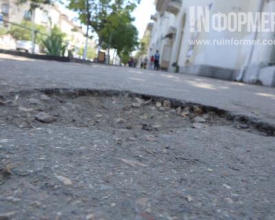 В Севастополе дороги делают, а тротуары подождут?