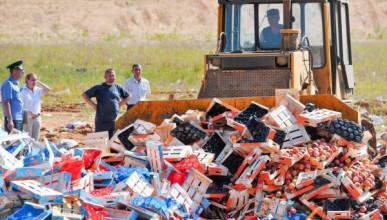 Роспотребнадзор хочет отказаться от уничтожения санкционных продуктов