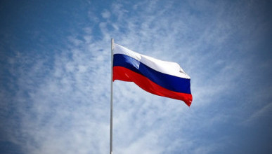 В Севастополе развернут гигантский флаг России