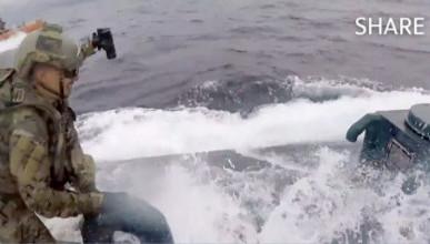 Береговая охрана США остановила подлодку с 7 тоннами кокаина. Как это было (ВИДЕО)