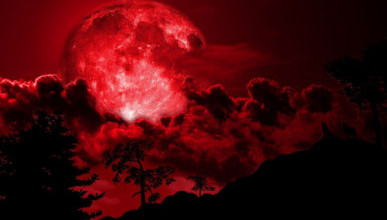 Сегодня вечером над Россией взойдет красная луна
