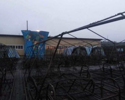 Пожар под Хабаровском в детском лагере