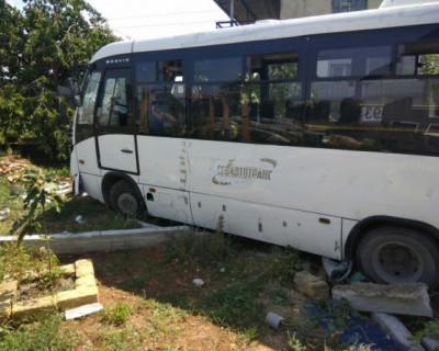 Автобус в Севастополе попал в ДТП