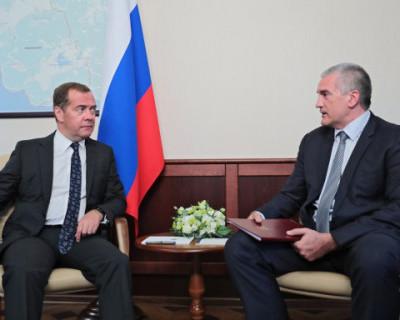 Сергей Аксенов рассказал Дмитрию Медведеву о ходе выполнения нацпроектов в Крыму
