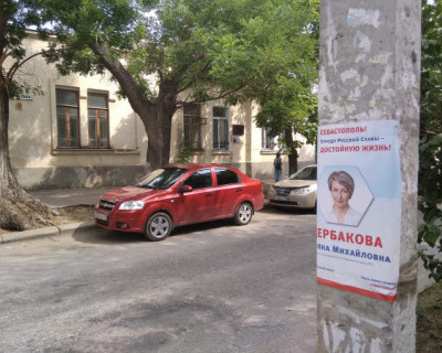 Севастопольский депутат Щербакова появилась на столбах