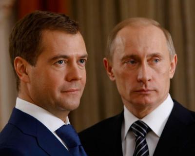 Владимира Путина в телеэфире упоминают в три раза чаще, чем Дмитрия Медведева