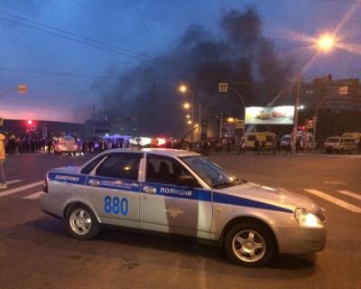 Мужчина поджег полицейского в Кемеровской области