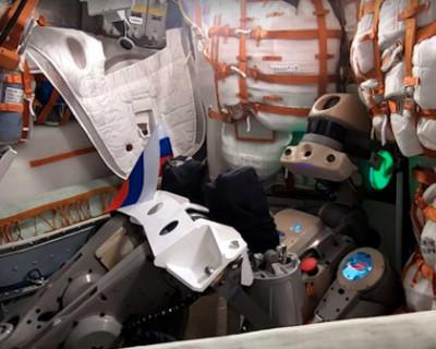 Российский робот «Федор» улетел в космос и оттуда поздравил россиян с Днем флага (ВИДЕО)