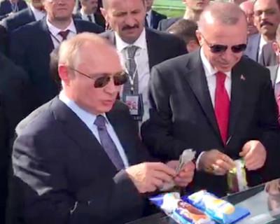 Путин и Эрдоган полакомились мороженым