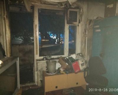 В Севастополе сгорел балкон (ФОТО)