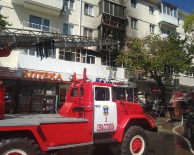 В Севастополе сгорели пять балконов