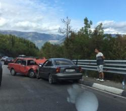 Тройное ДТП на трассе Севастополь–Ялта