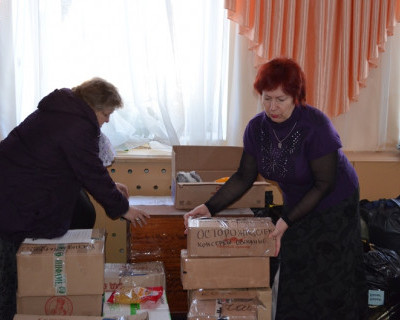 Жители Качи собрали гуманитарную помощь для жителей Юго-Востока