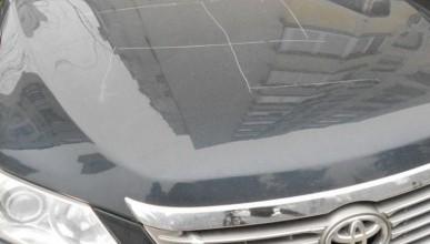 Тревожно! На машинах в Ялте вырезают нацистскую свастику (фото)