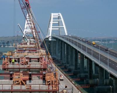 Крымский мост испытывают двухтонными ж/д составами
