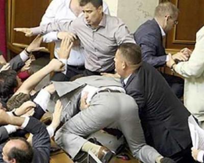 На Украине подрались депутаты (ВИДЕО)