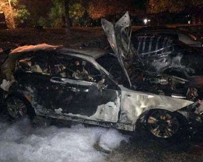 В Севастополе сгорел хэтчбек BMW
