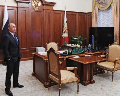 Как можно в деталях рассмотреть элементы интерьера рабочего кабинета Владимира Путина?