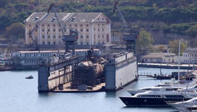 В Севастополе утонула подводная лодка