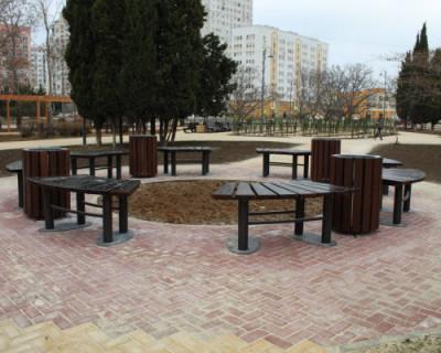 В Севастополе завершили благоустройство сквера на ул. Павла Корчагина