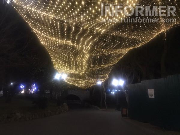 Предновогодний ночной Севастополь